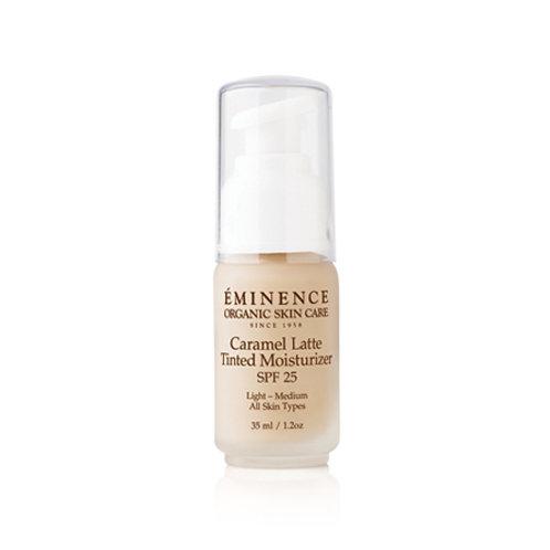 CARAMEL LATTE TINTED MOISTURIZER SPF 25: (light to medium) daily SPF moisturizer