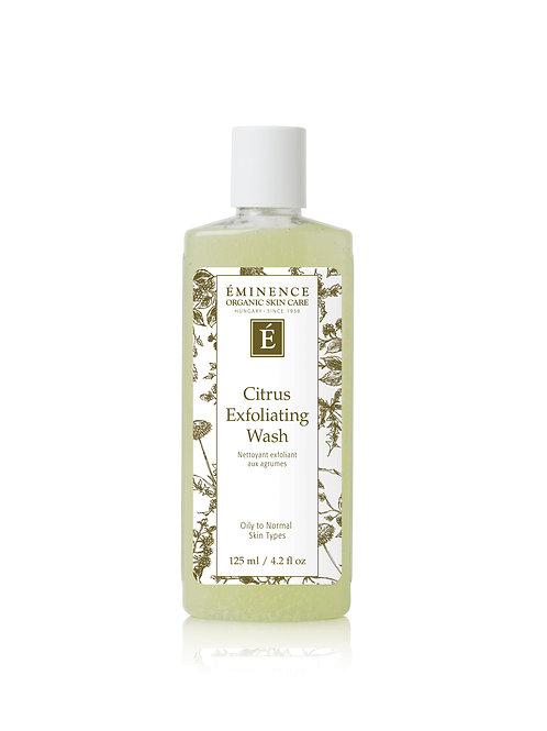CITRUS EXFOLIATING WASH: Gentle exfoliating wash