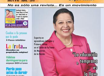 Rebecca Palacios Experta en aprendizaje bilingüe y primera latina en el Salón de la Fama de Maestros