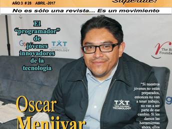 """Oscar Menjivar El """"programador"""" de jóvenes innovadores de la tecnología"""