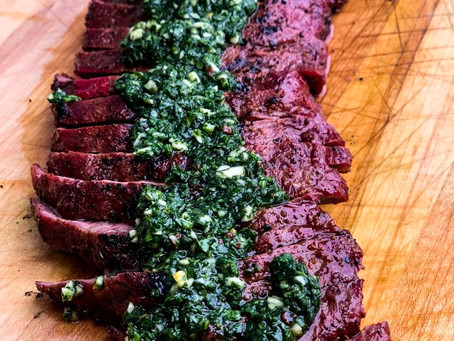 Flat Iron Steak with Chimichurri Recipe