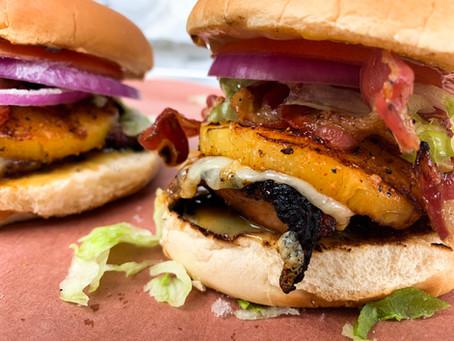 Hawaiian Grilled Chicken & Pancetta Burgers