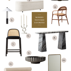 Modern Textured Favorites