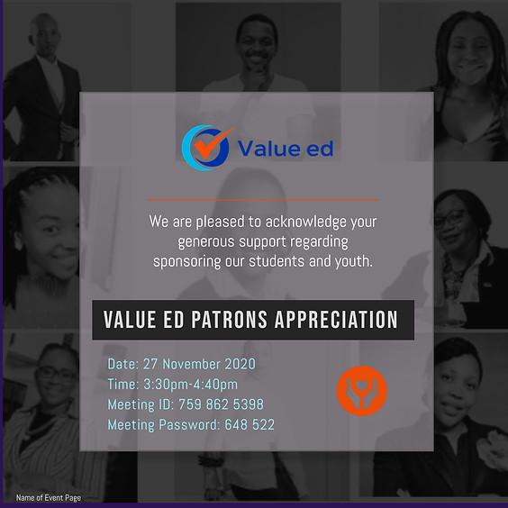 Value ed Patrons Appreciation