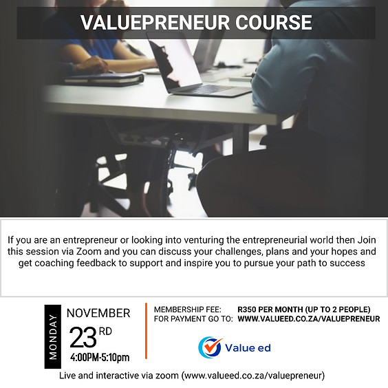 Valuepreneur Course