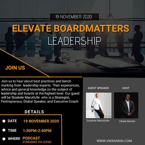 Elevate - BoardMatters w/Sizakele Marutlulle