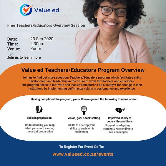 Teachers Program Overview