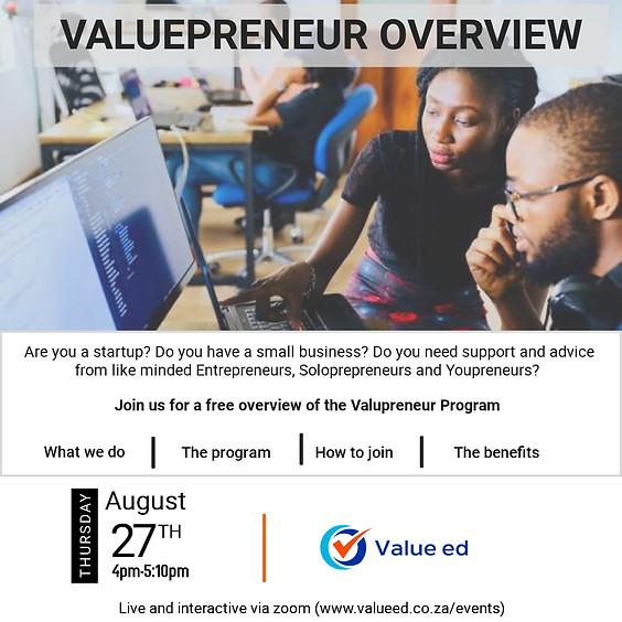Overview of Valuepreneur Program