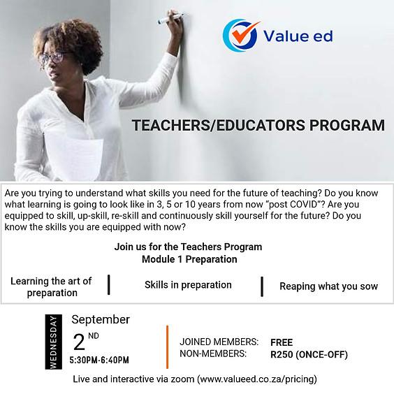 Teachers Program (Module 1)
