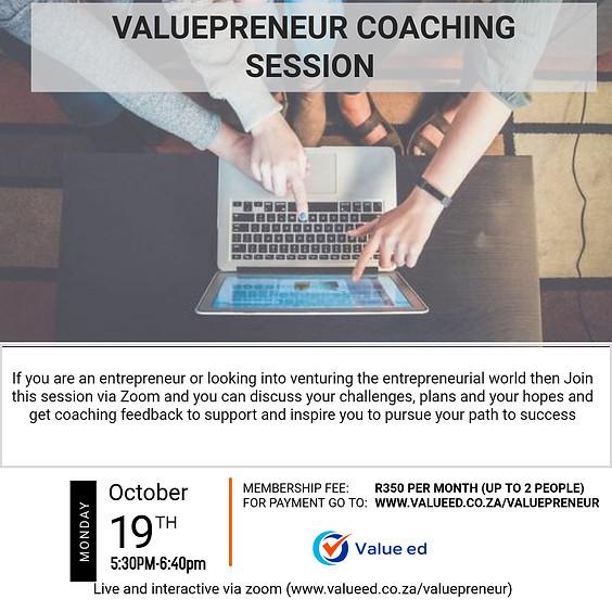 Valuepreneur - Coaching