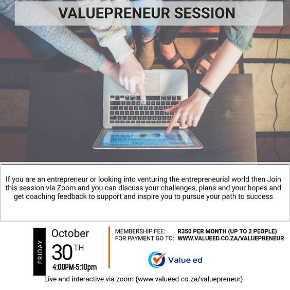 Valuepreneur Session