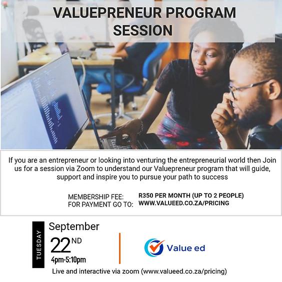 Valuepreneur - Session 2
