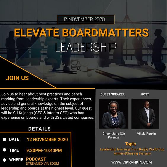 Elevate - BoardMatters w/ Cheryl Kujenga