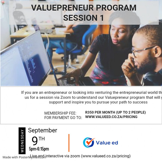 Valuepreneur - Session 1