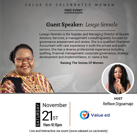 Celebrating Women w/Lesego Sennelo