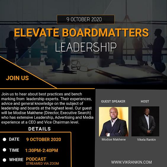 Elevate - BoardMatters w/Modise Makhene