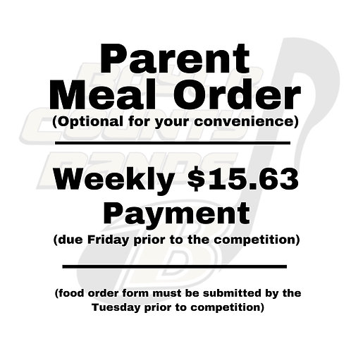 Parent Meal Order - Weekly $15.63 Payment