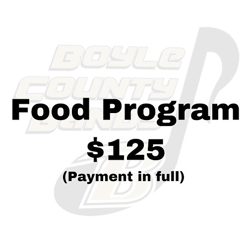 Food Program (payment in full)