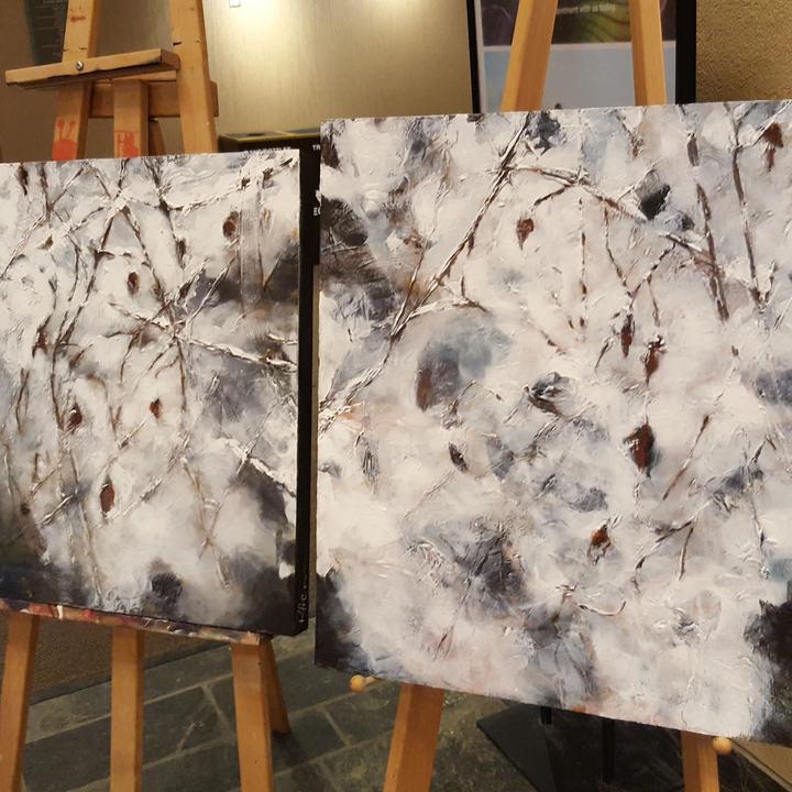 Snow Spell Series Diptych