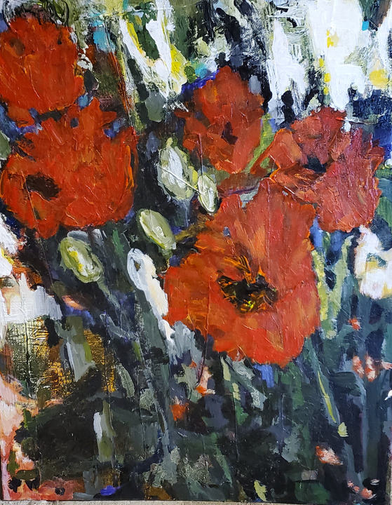 Bright Eyed    Abstract Floral