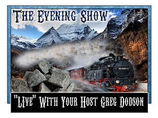 The Evening Show Logo With Just Greg .pn
