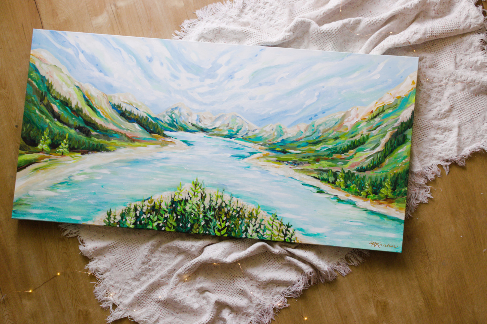 Paris Krahn Art | River Bend | Painting
