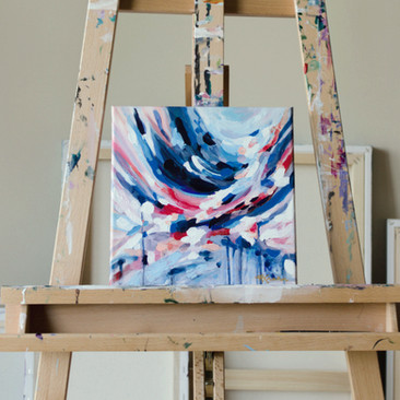 Paris Krahn Art | Flower Showers | Abstract Painting