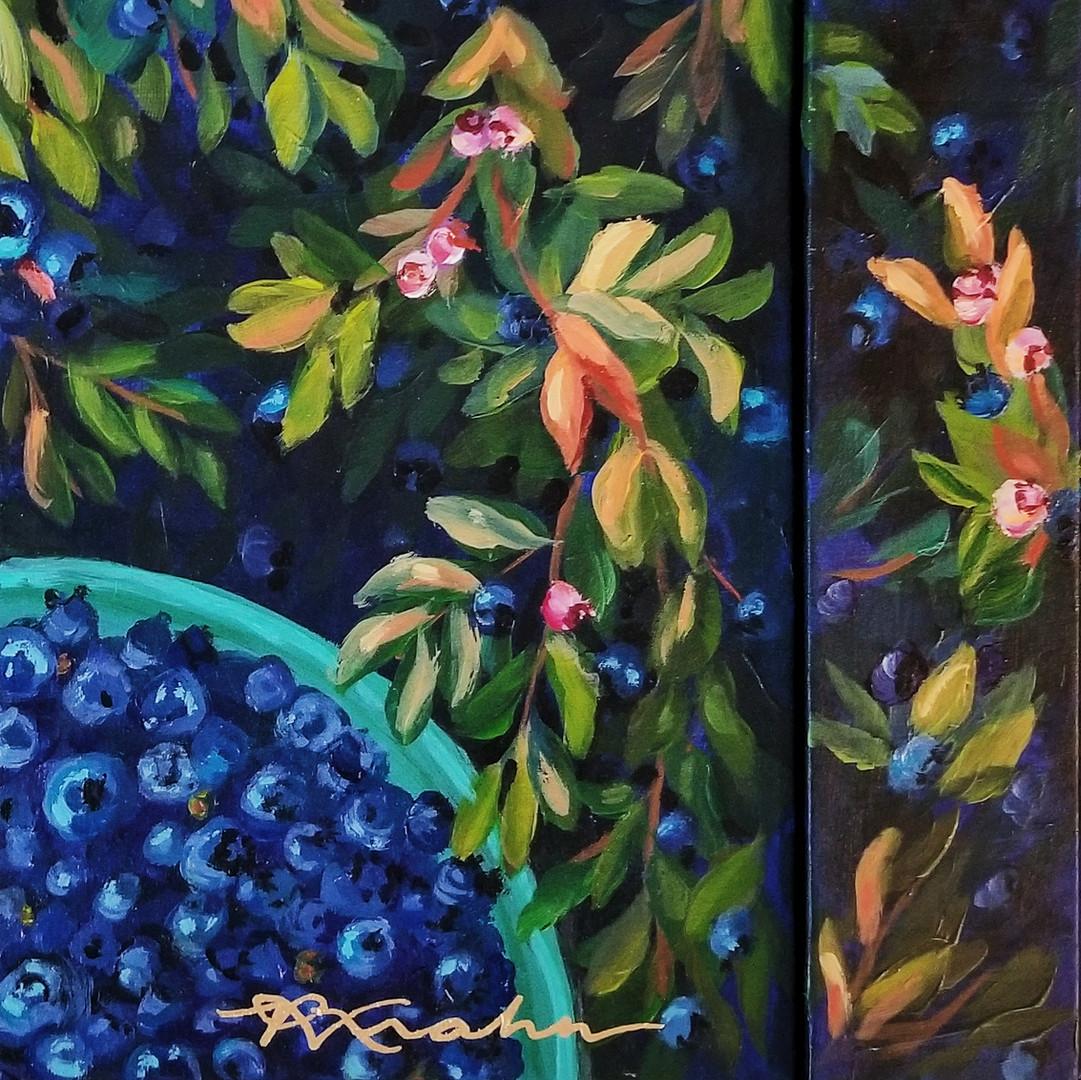 Paris Krahn Art | Blue Berries | Berry Bible