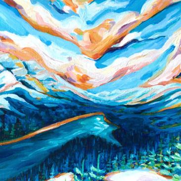 Paris Krahn Art | Mountain | Peyto Lake