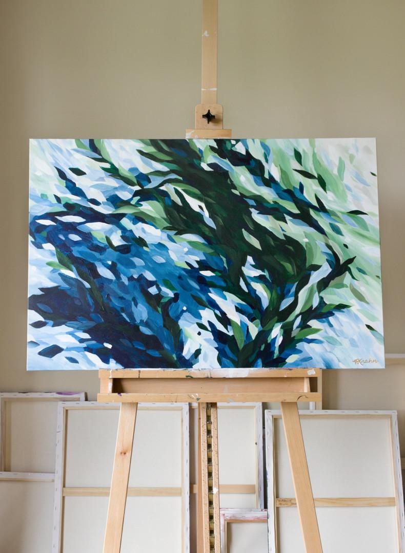 Paris Krahn Art | Sea Pearl | Aqua Green Abstract Painting