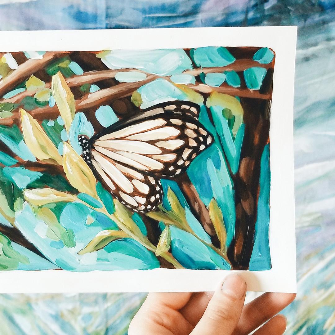 Paris Krahn Art | Butterfly Painting