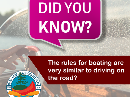 Did you know.. The rules for boating are very similar to driving on the road?