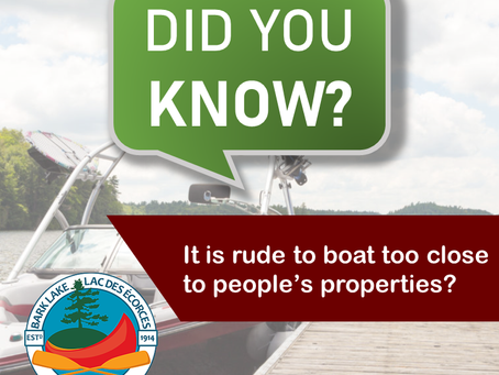 Did you know… it is rude to boat too close to people's properties?