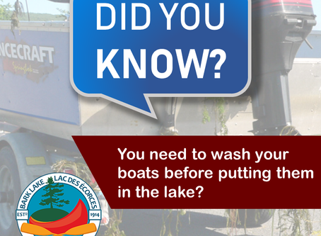 Did you know… you need to wash your boats before putting them in the lake?