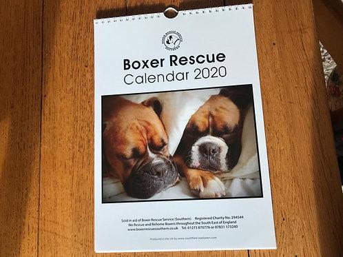 Boxer Rescue Calendar 2020