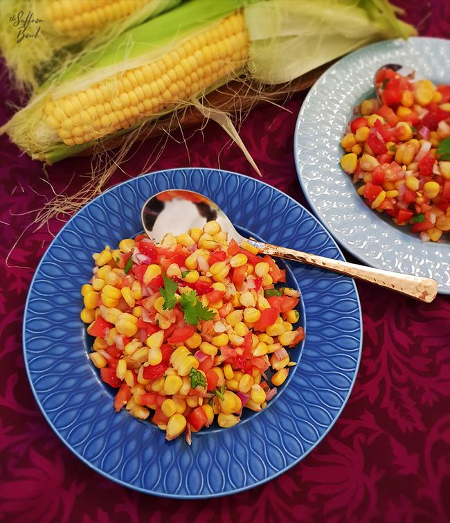 Sweet Corn & Strawberry Chaat