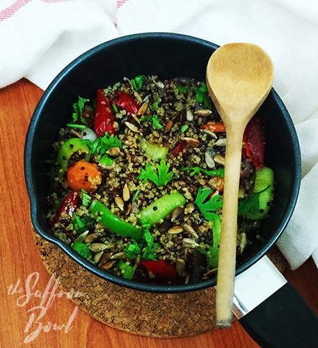 Spicy Quinoa and Leek Stir-fry