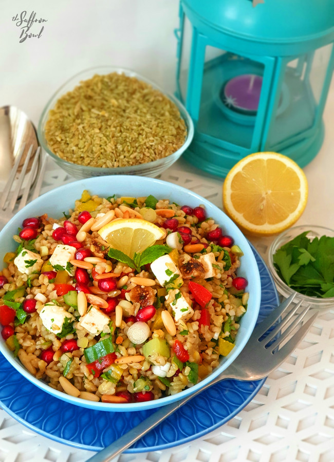 Green Freekeh Salad