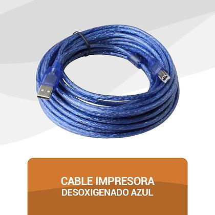 Cable Impresora Desoxigenado Azul