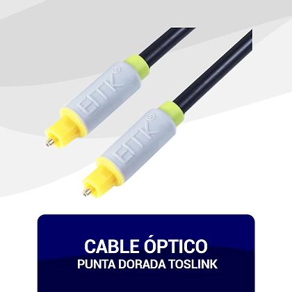 Cable Óptico Punta Dorada TOSLINK