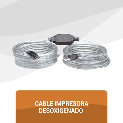 Cable Impresora Desoxigenado