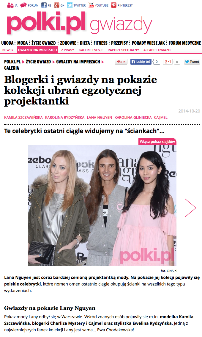 LANA NGUYEN PRESS DAY / POLKI.PL