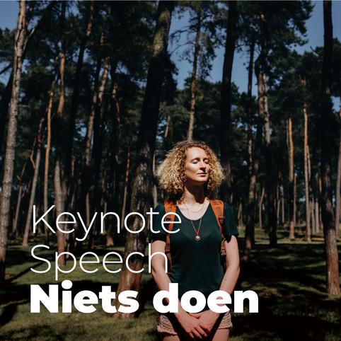 Keynote speech: Niets doen