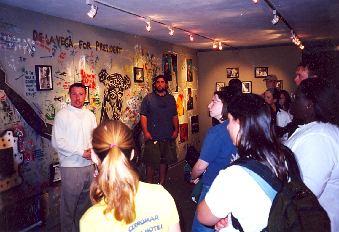Installation of Talking Walls and Sidewalks at Virginia Tech's Armory Gallery, 2000
