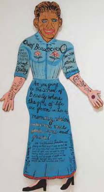 """Howard Finster, """"Chief Beautician"""", by Susan Hankla"""