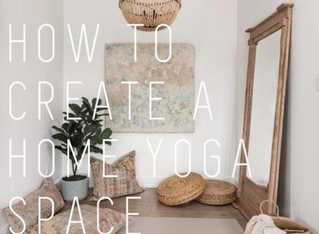 How to create a Home Yoga Space // Slik lager du ditt eget yogastudio hjemme