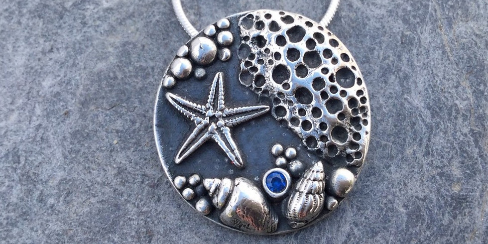 SOLD OUT - Silver Clay Rock Pool Pendants