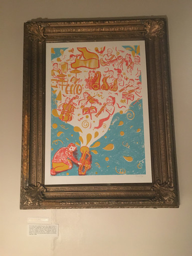 Screenprint at the exhibition