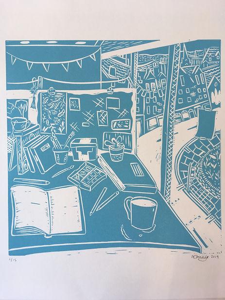 Studio Space, Lino Cut