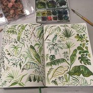 Watercolour Leaves